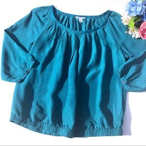 Calvin Klein Blue Textured Blouse Size L
